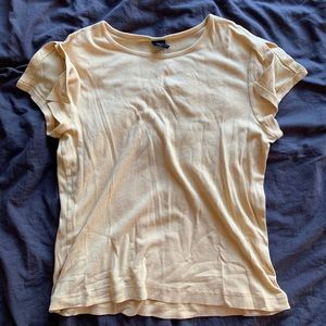 Early 2000s inspired pale yellow T-shirt